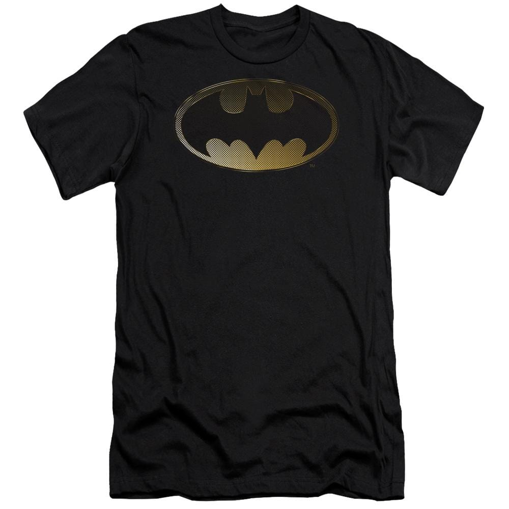Batman Halftone Bat Premium Adult Slim Fit T-Shirt