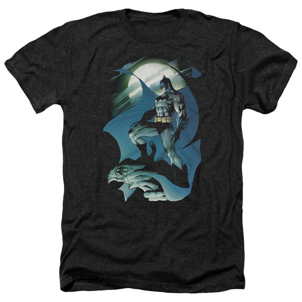 Batman - Glow Of The Moon Adult Regular Fit Heather T-Shirt
