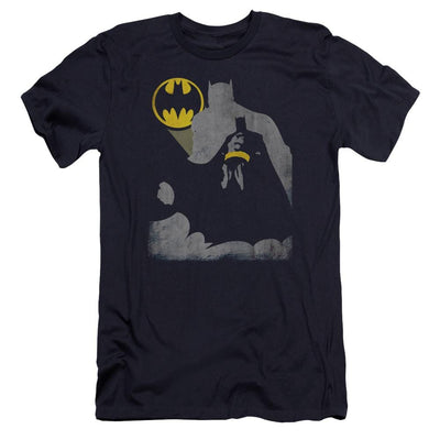 Batman Bat Knockout Men's Premium Slim Fit T-Shirt