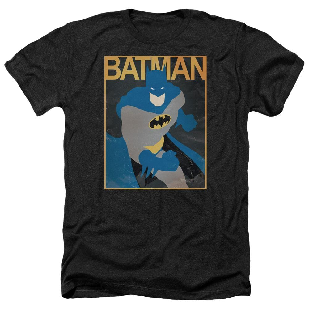 Batman - Simple Bm Poster Adult Regular Fit Heather T-Shirt