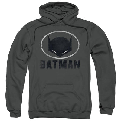 Batman Mask In Oval Pullover Hoodie