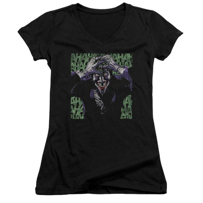 Batman Insanity Juniors V-Neck T-Shirt