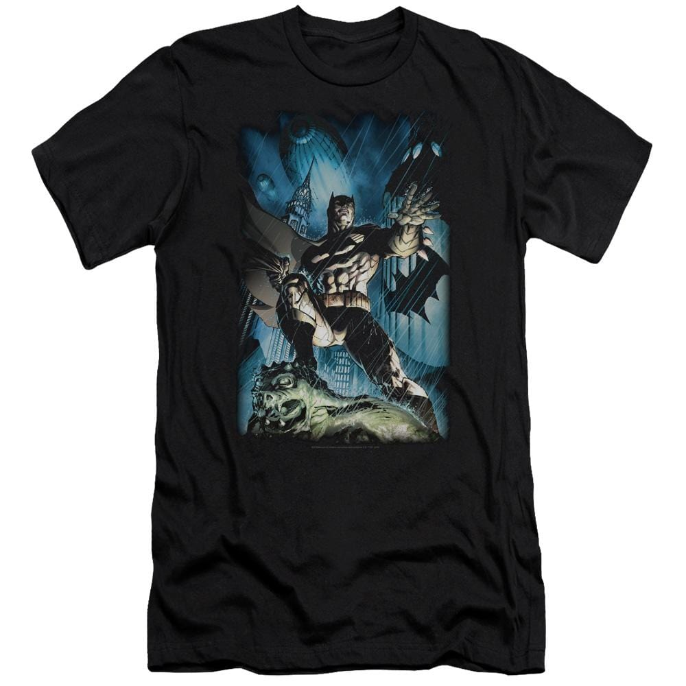 Batman Stormy Dark Knight Premium Adult Slim Fit T-Shirt
