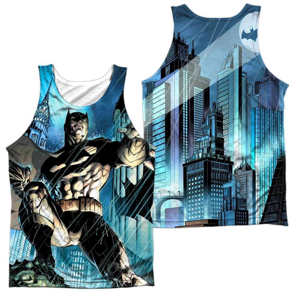 Batman Rainy Rooftop Adult Tank Top