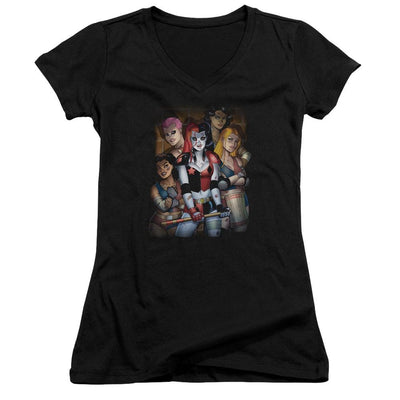 Batman Bad Girls Juniors V-Neck T-Shirt