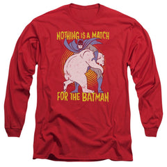 Batman - Bear Wrastling Adult Long Sleeve T-Shirt