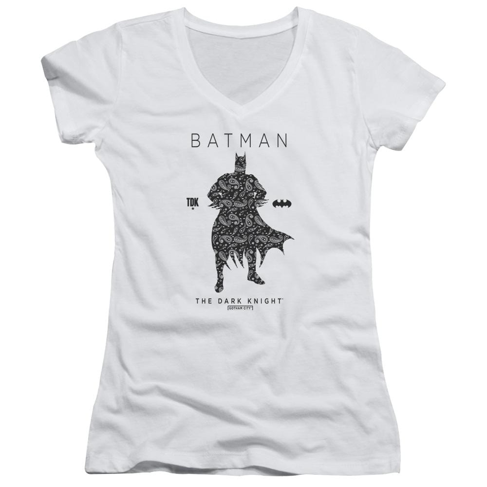 Batman - Paislety Silhouette Junior V-Neck T-Shirt