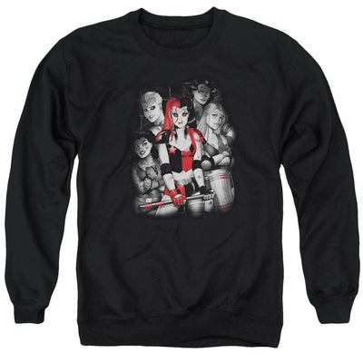 Batman Bad Gals Bw Men's Crewneck Sweatshirt