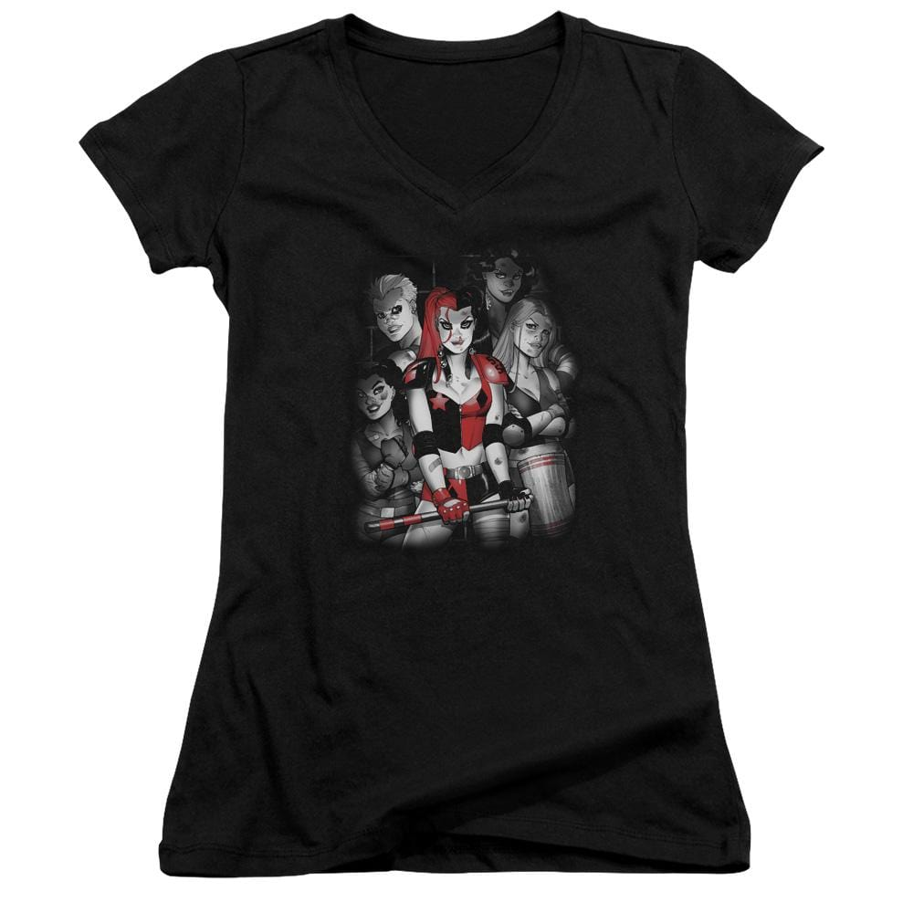 Batman - Bad Gals Bw Junior V-Neck T-Shirt