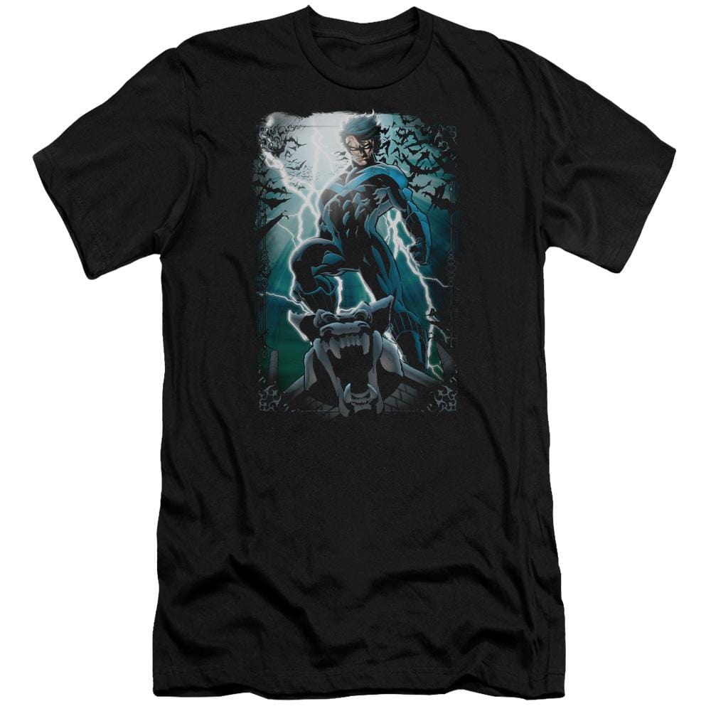 Batman Night Light Premium Adult Slim Fit T-Shirt