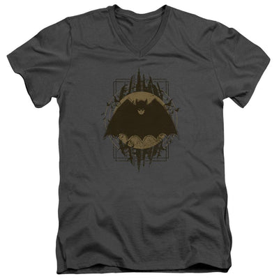 Batman Batman Crest Men's V-Neck T-Shirt
