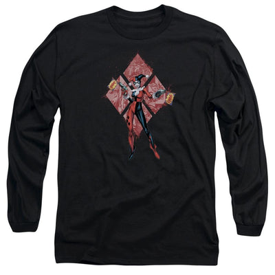 Batman Harley Quinn (diamonds) Men's Long Sleeve T-Shirt