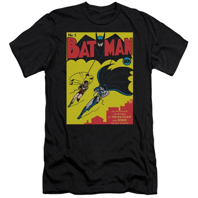 Batman Batman First Men's Premium Slim Fit T-Shirt