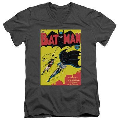 Batman Batman First Men's V-Neck T-Shirt