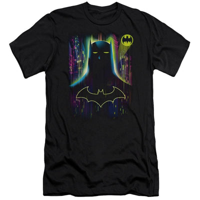 Batman Knight Lights Men's Premium Slim Fit T-Shirt