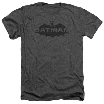Batman Newsprint Logo Men's Heather T-Shirt