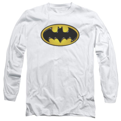 Batman Airbrush Bat Symbol Men's Long Sleeve T-Shirt