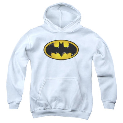 Batman Airbrush Bat Symbol Youth Hoodie (Ages 8-12)