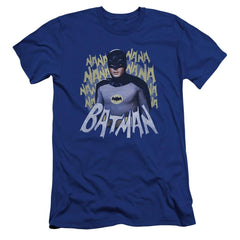 Batman Classic Tv Theme Song Premium Adult Slim Fit T-Shirt