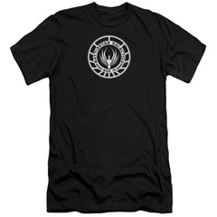 Bsg Galactica Badge Premium Adult Slim Fit T-Shirt
