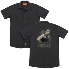 Bsg - Had Me At Helo Adult Work Shirt
