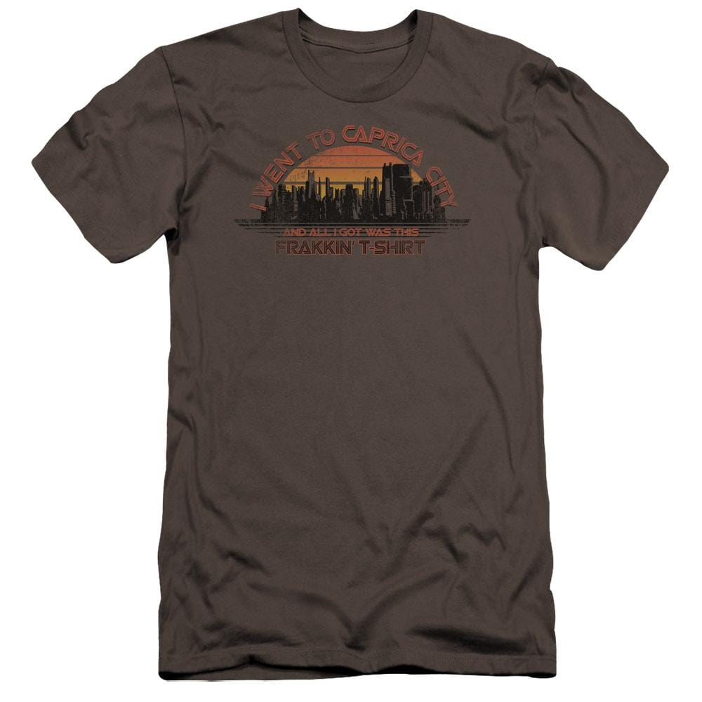 Bsg Caprica City Premium Adult Slim Fit T-Shirt