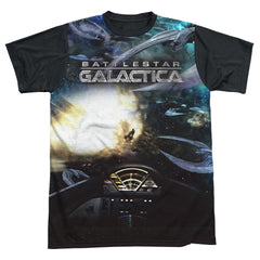 Bsg (new) - Battle Seat Adult Black Back 100% Poly T-Shirt