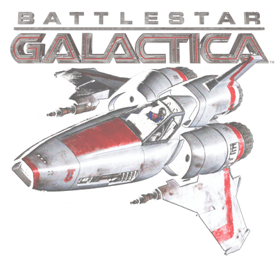 Battlestar Galactica Mark Ii Viper Juniors V-Neck T-Shirt