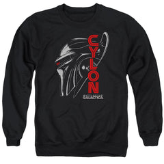 Bsg - Cylon Face Adult Crewneck Sweatshirt