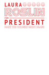 Battlestar Galactica Roslin For President Juniors T-Shirt