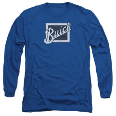 Buick - Distressed Emblem Adult Long Sleeve T-Shirt