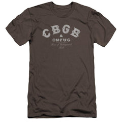 Cbgb Tattered Logo Premium Adult Slim Fit T-Shirt