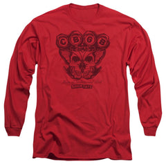 Cbgb Moth Skull Adult Long Sleeve T-Shirt