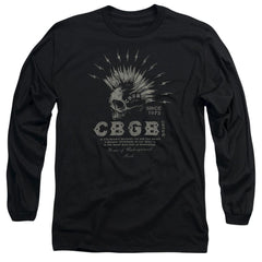 Cbgb Electric Skull Adult Long Sleeve T-Shirt