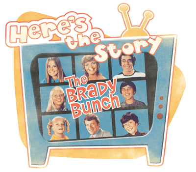 Brady Bunch Heres The Story Men's Regular Fit T-Shirt