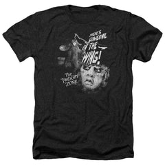 Twilight Zone Someone On The Wing Adult Regular Fit Heather T-Shirt
