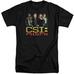 Csi Miami The Cast In Black Adult Tall Fit T-Shirt