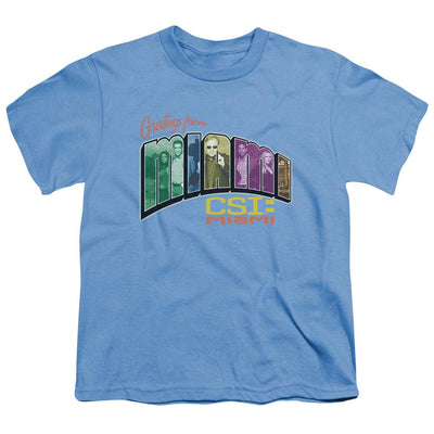 CSI: Miami Greeting From Miami Youth T-Shirt (Ages 8-12)
