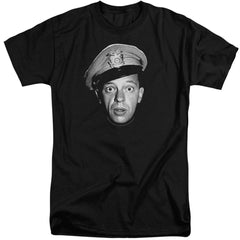 Andy Griffith Barney Head Adult Tall Fit T-Shirt