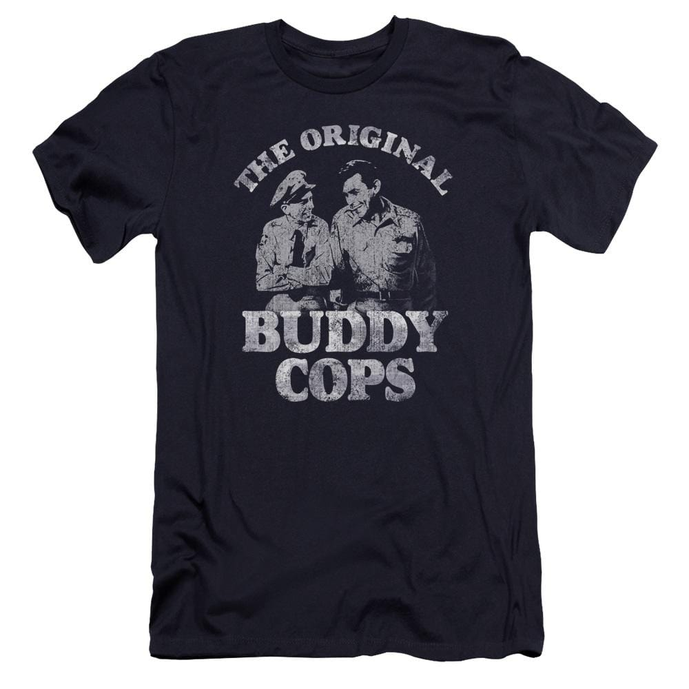 Andy Griffith Buddy Cops Premium Adult Slim Fit T-Shirt