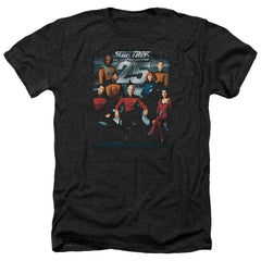 Star Trek 25th Anniversary Crew Adult Regular Fit Heather T-Shirt
