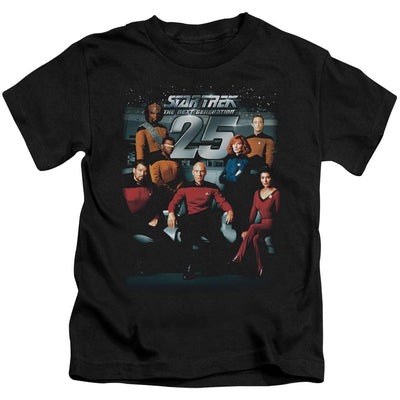 Star Trek 25th Anniversary Crew Kid's T-Shirt (Ages 4-7)