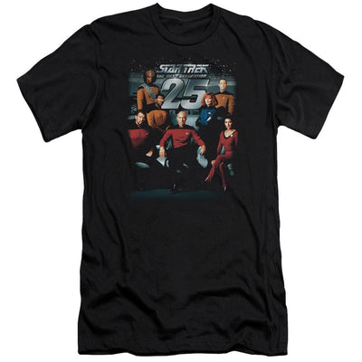 Star Trek 25th Anniversary Crew Men's Slim Fit T-Shirt