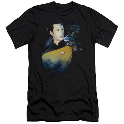 Star Trek Data 25th Men's Slim Fit T-Shirt
