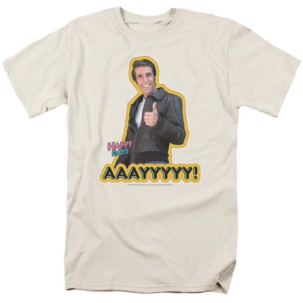 Happy Days Aaayyyyy Adult Regular Fit T-Shirt