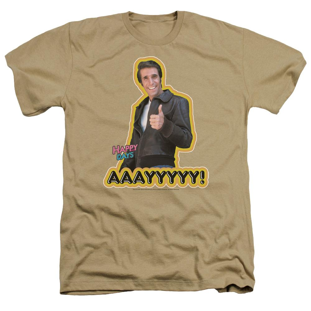 Happy Days Aaayyyyy Adult Regular Fit Heather T-Shirt
