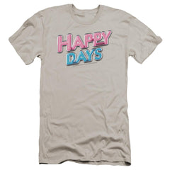 Happy Days Happy Days Logo Premium Adult Slim Fit T-Shirt