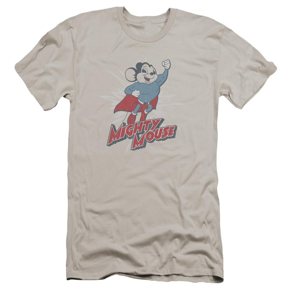 Mighty Mouse Mighty Blast Off Premium Adult Slim Fit T-Shirt