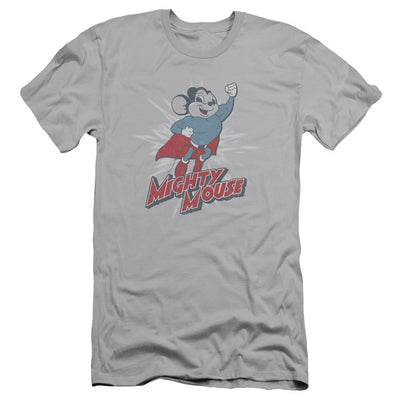 Mighty Mouse Mighty Blast Off Men's Slim Fit T-Shirt
