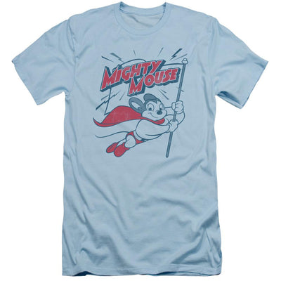 Mighty Mouse Mighty Flag Men's Slim Fit T-Shirt